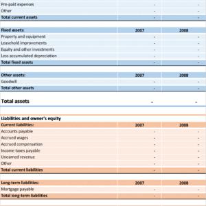 B01-Balance sheet, Balancesheet Excel, Financial Statements, Doing it Right, balancesheet, balancesheet excel