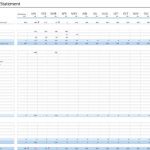 Cash Flow Statement excel - Cash Flow Excel