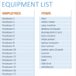 E01-Settings, Equipment Inventory List Excel, Financial Management, Using your money wisely, equipment inventory list, equipment inventory list excel